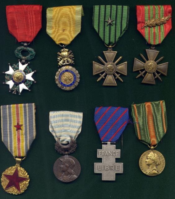 LES DÉCORATIONS AU CHOC 1943-1945. 872284MdaillesChoc