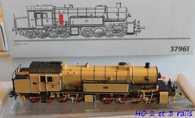 Les locomotives à vapeur articulées 886349MarklinH0Digital37961MalletGt2x44derKBayStsBbeige3R