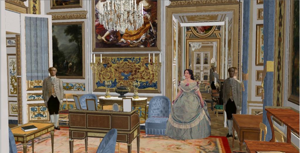 Reconstitution virtuelle du Palais des Tuileries, états Premier Empire et Second Empire 886799vuedamedupalais