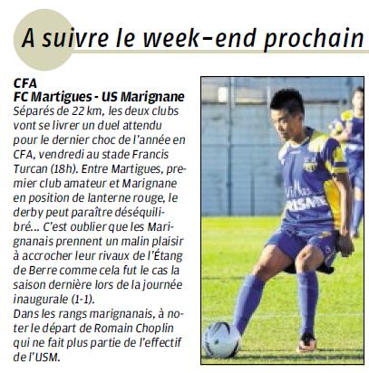 FC MARTIGUES // CFA GROUPE C CLUB et VILLE  894820826