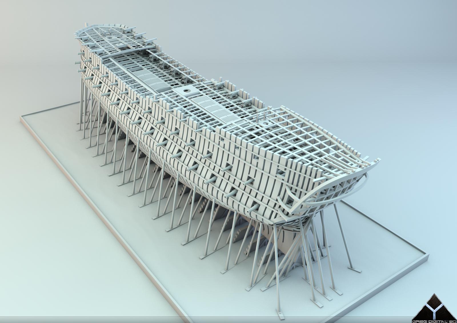 Etapes de construction 3D d'un navire de 74 canons. - Page 8 894952Navire74canonsR16canons