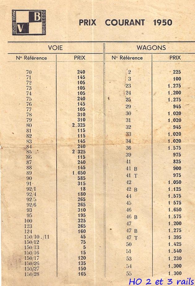 Catalogues 1950 et 1954 couverture photo (extraits) 911302VBcataloguetarif1950R