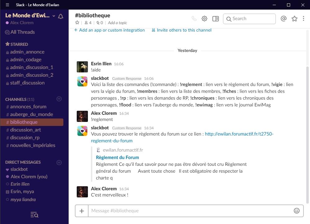 Slack - La ChatBox du forum : guide   914666bibliothque