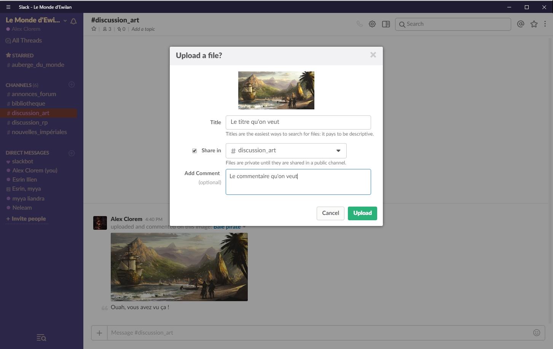 Slack - La ChatBox du forum : guide   916858uploadafile