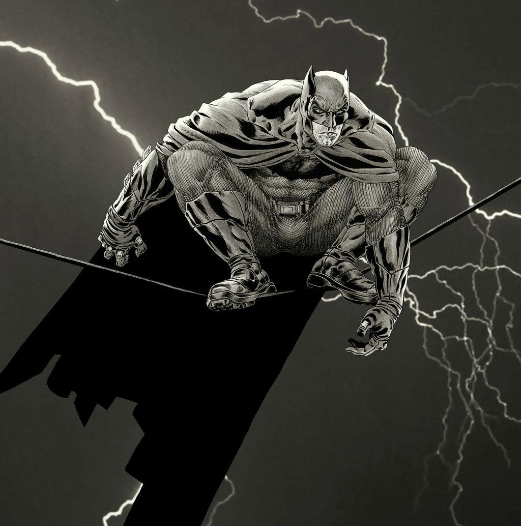 Une nouvelle jeunesse...une nouvelle terreur nocturne....[Bat / Huntress / L'Épouvantail ] 919142batmanbenaffleckfmillertributebygarnabielbygarnabiuthd907rhh
