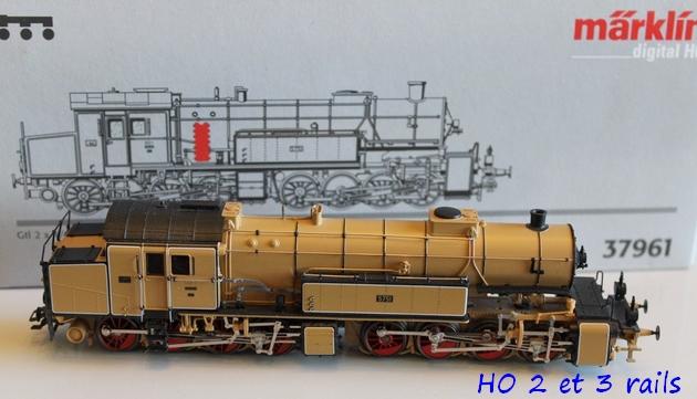 Les locomotives à vapeur articulées 924370MarklinH0Digital37961MalletGt2x44derKBayStsBbeigeR