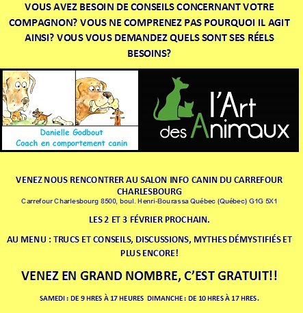 Salon info-canin à Charlesbourg (Quebec) 2 et 3 févr. 92616673513310200303642904345178316960n