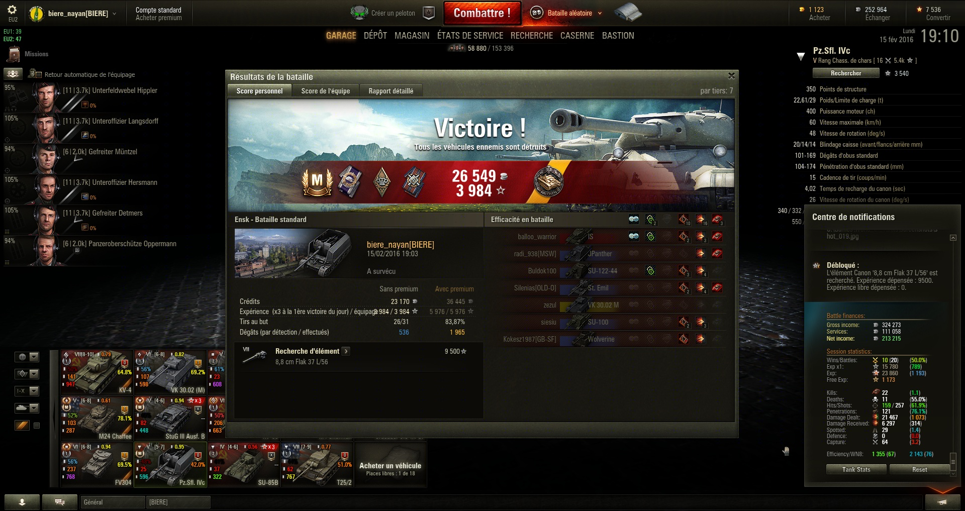 Screenshots et rapports de batailles 933067shot020