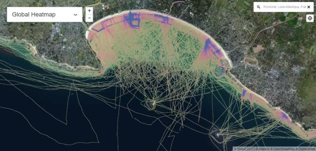 Carte de densité des traces GPS en navigation 937135densitegps2