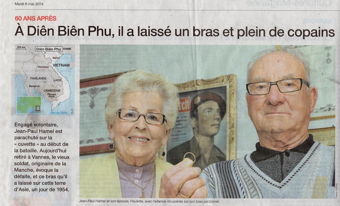 Ouest-France Dien Bien Phu Témoignage de Jean Paul HAMEL 941715img881Copie