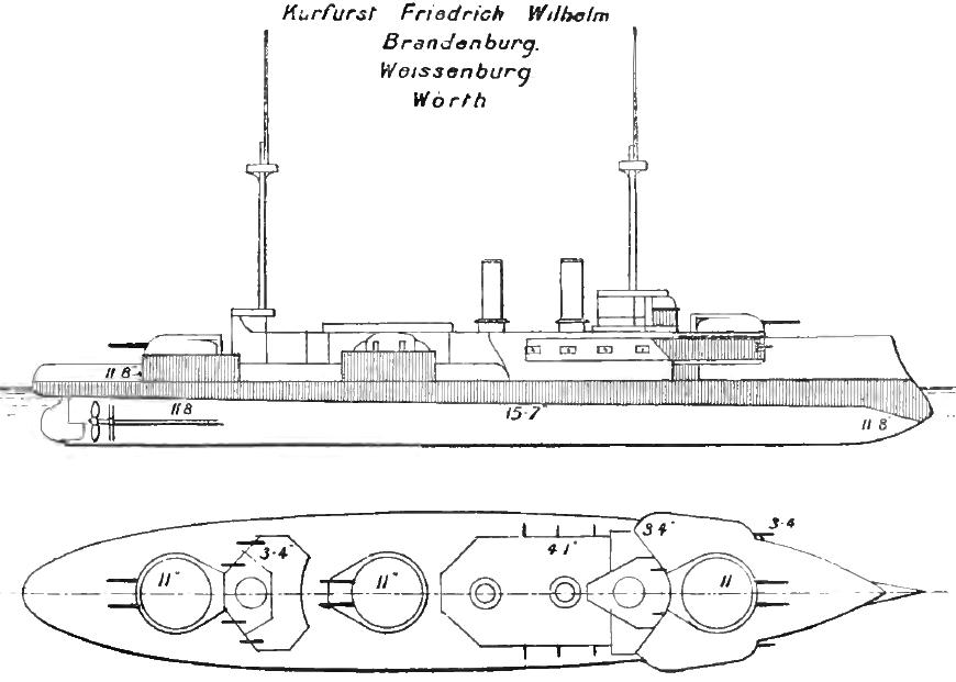 ROYAL NAVY CUIRASSE HMS ERIN  955832BrandenburgBrasseys