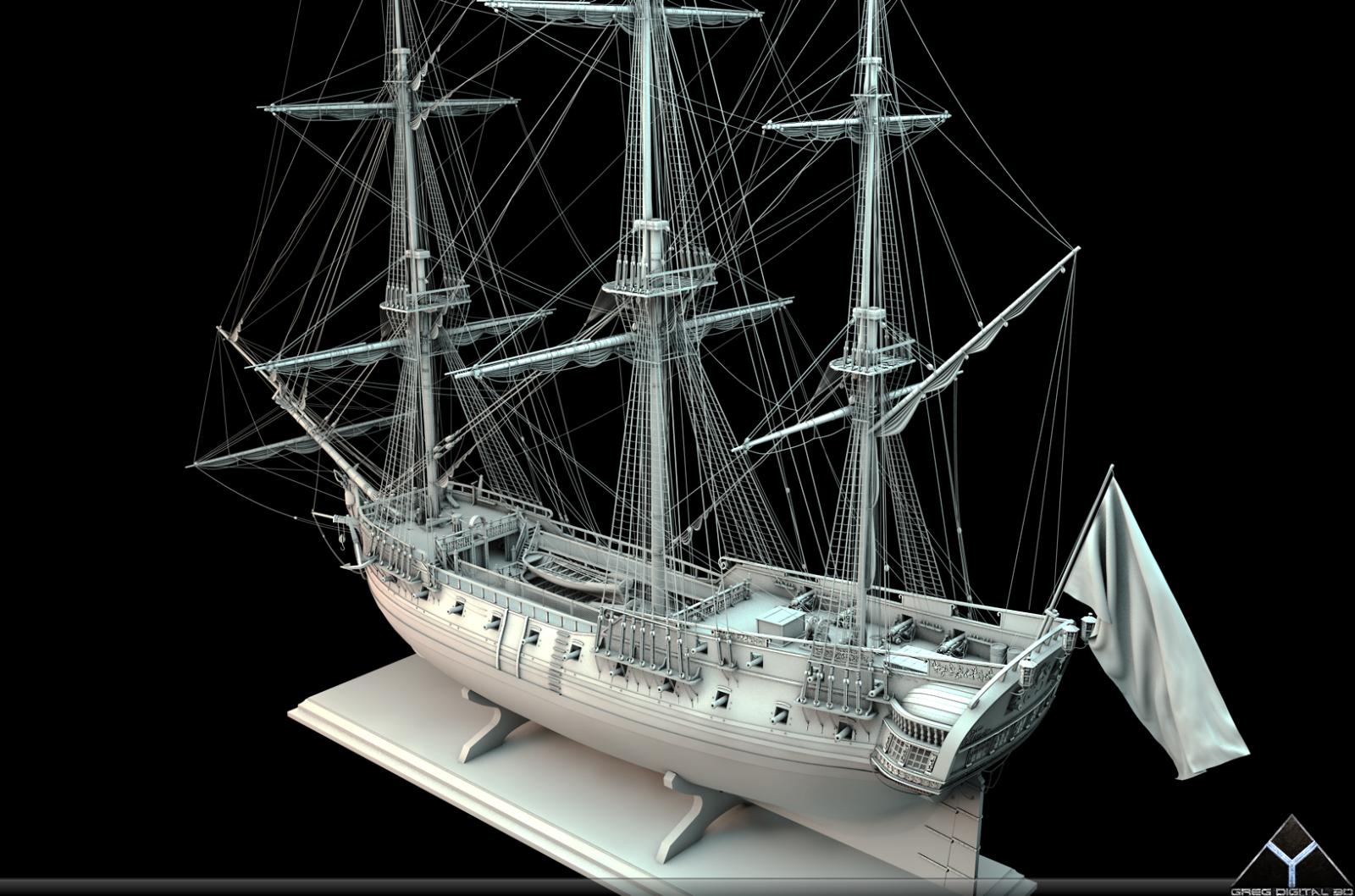 Frégate m'a première réalisation d'un navire en 3D. - Page 6 965965FrgatelightroomR166