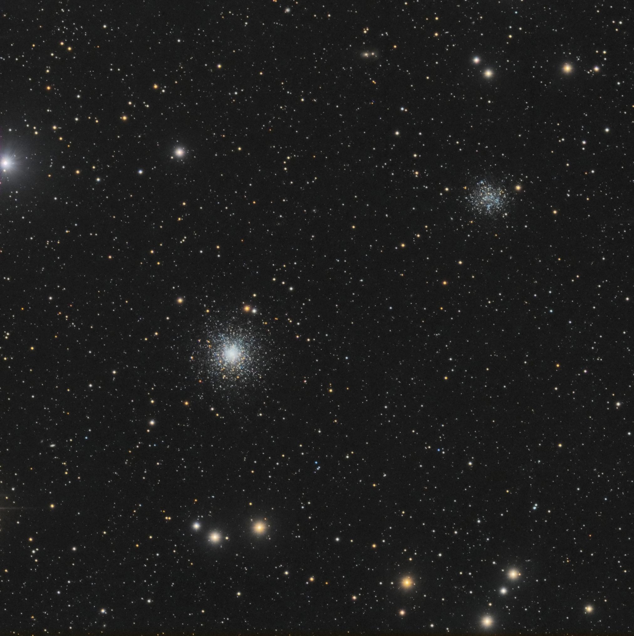 2 amas lointains dans la chevelure de Bérénice 967125M53LRVBCSPixstarssat
