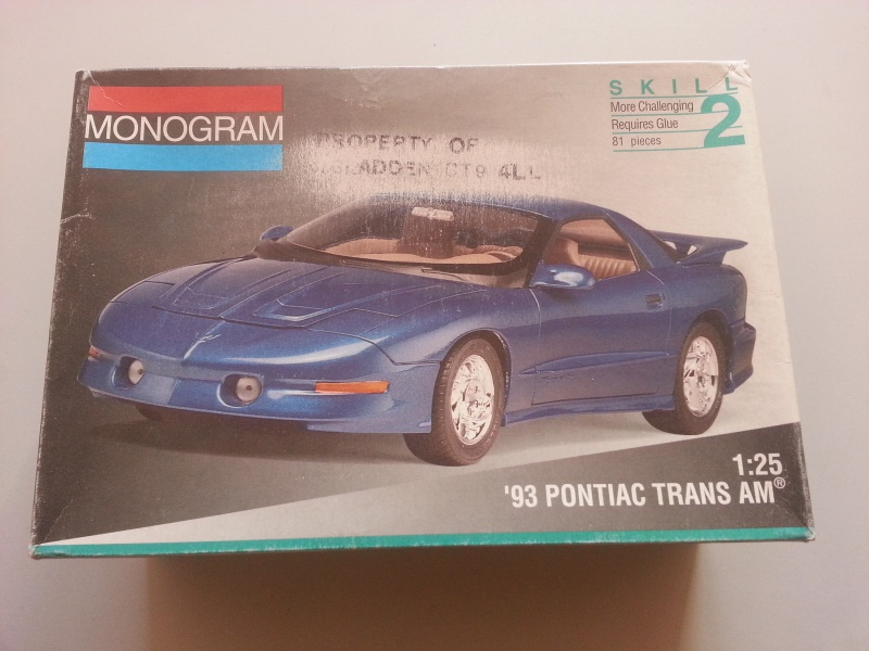 Pontiac Trans-am 1993 Monogram. 96809620161018101530