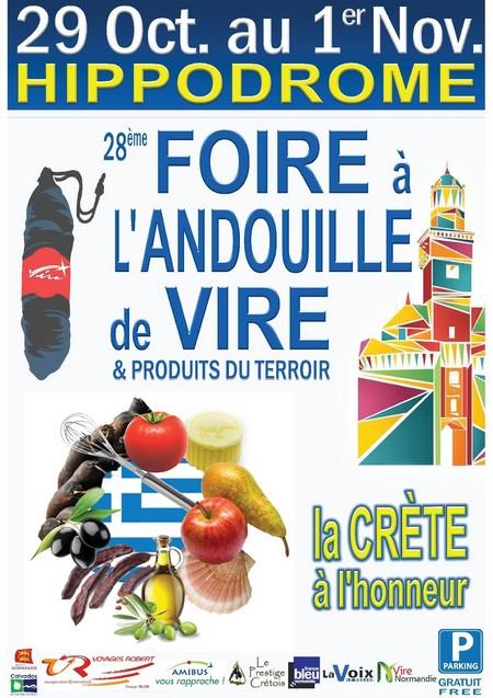 Vire 14500 -28ème Foire à l'Andouille du 29 Octobre au 1er Novembre 2016 970904AFFICHE2016FINALE2