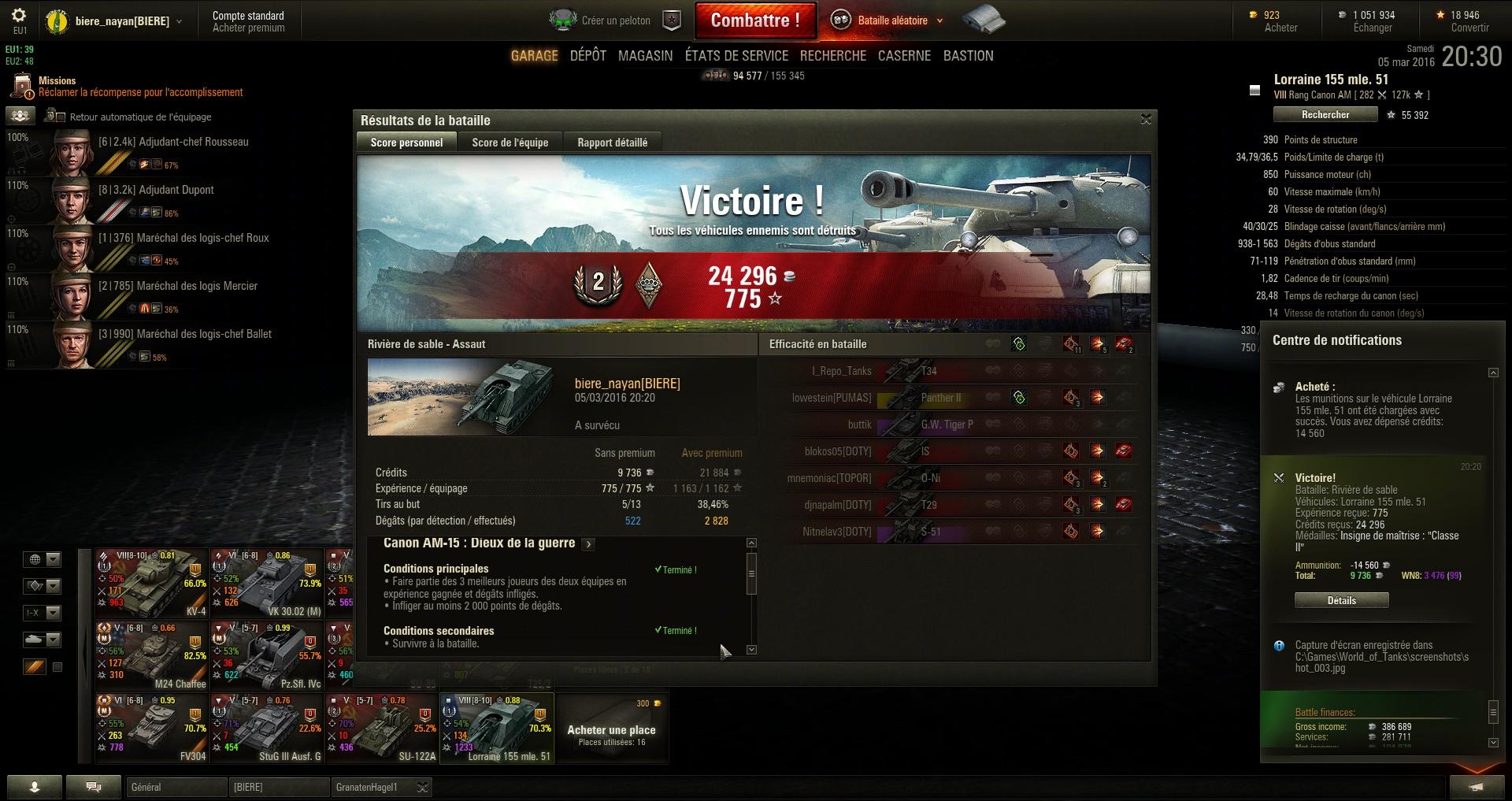 Screenshots et rapports de batailles - Page 2 971639shot004