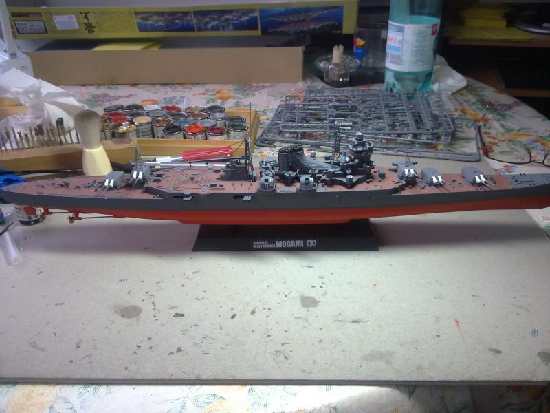 croiseur lourd Mogami au 1/350 par Pascal 94 - Tamiya  - Page 5 973836vuedensembletourelles203jpg