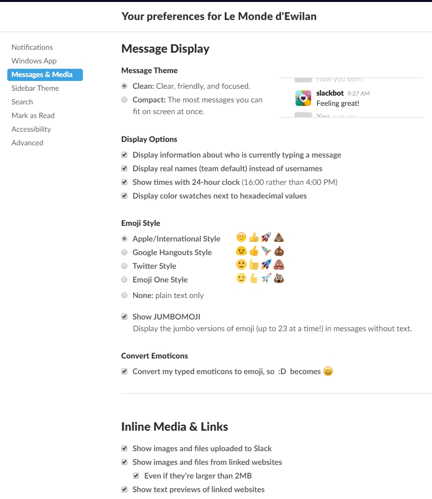 Slack - La ChatBox du forum : guide   982665messagedisplay