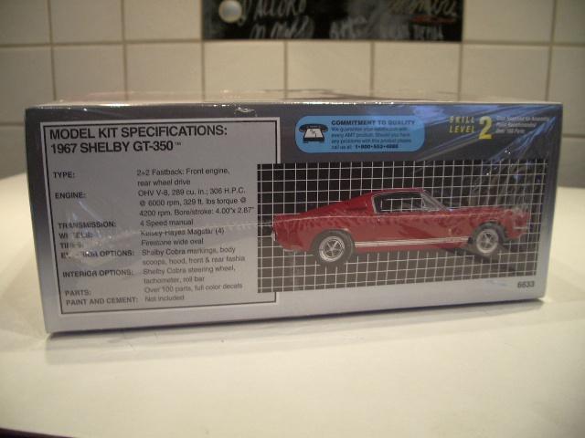 mustang shelby 350 GT 1967  au 1/25 de chez AMT/ERTL  991982IMGP0903