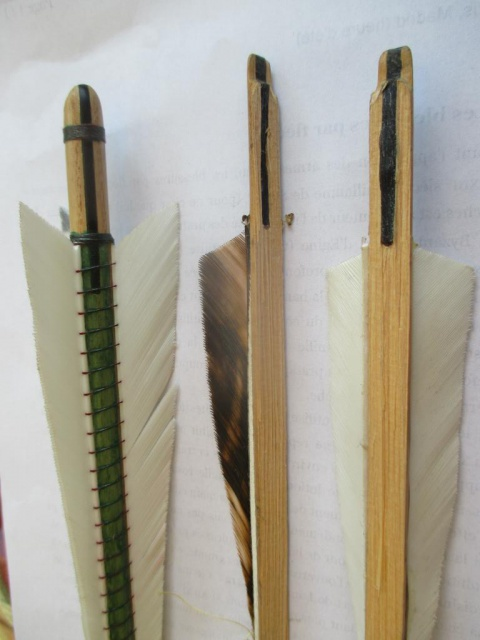 Fabrication des flèches de guerre 992420IMG2446