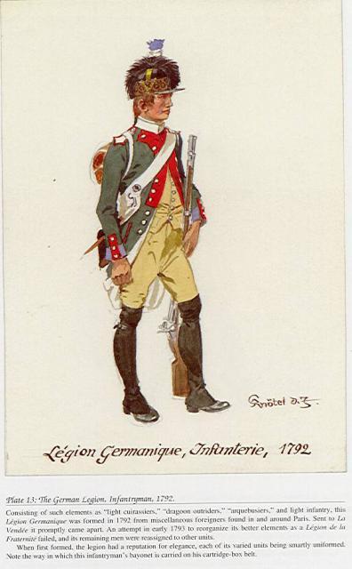 Allemands et Autrichiens au service de la France révolutionnaire 99306113GermanLegionInfantry1792