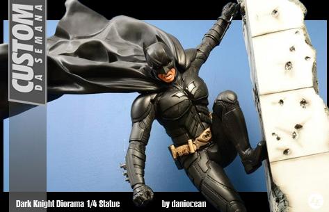 [Custom da Semana] Dark Knight Diorama 1/4 Statue - by daniocean 994100bats