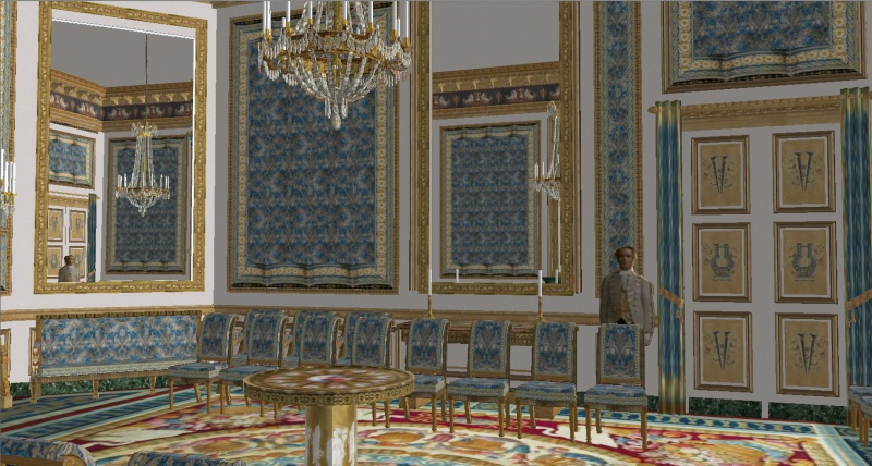 Reconstitution virtuelle du Palais des Tuileries, états Premier Empire et Second Empire 998374SSI9