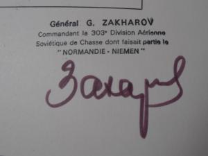 Normandie Niemen Plaquette avec autographe  Mini_217148PA060027