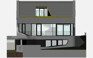 """Challenge thème : """"modélisation et rendu d'une maison atypique"""" - Silk37 & SB - ArchiCAD 17 - 3DS/V-Ray - Photoshop Mini_301946OLSHouseFaceNordvue1"""