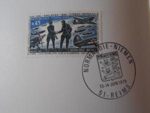 Normandie Niemen Plaquette avec autographe  Mini_348382PA060029