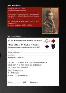 J'étais soldat au 2e Bataillon de Fusiliers Louis Laeremans Mini_382871Jtaissoldatau2meBataillondeFusiliersLouisLaeremansvolontairedeguerreen1944B