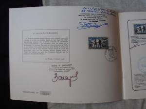 Normandie Niemen Plaquette avec autographe  Mini_416522PA060024
