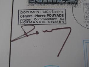 Normandie Niemen Plaquette avec autographe  Mini_649120PA060034