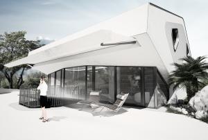 """Challenge thème : """"modélisation et rendu d'une maison atypique"""" - Silk37 & SB - ArchiCAD 17 - 3DS/V-Ray - Photoshop Mini_681299olsext11s"""