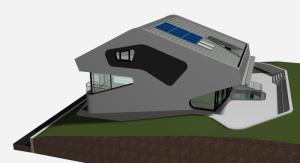 """Challenge thème : """"modélisation et rendu d'une maison atypique"""" - Silk37 & SB - ArchiCAD 17 - 3DS/V-Ray - Photoshop Mini_965783OLSHouseExtrieursVue1"""
