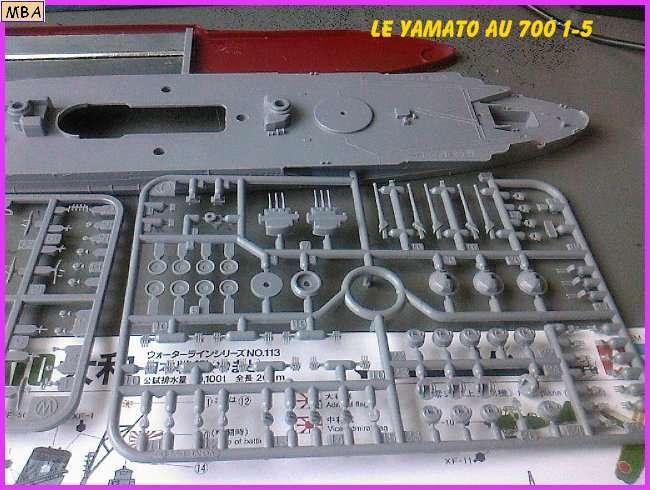 CONSTRUCTION DE LA MAQUETTE DU YAMATO AU 700 TAMIYA 126581Yamato5