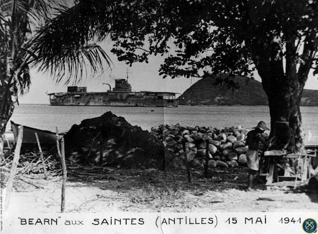FRANCE PORTE-AVIONS BEARN - Page 1 131870Bearn_aux_Antilles