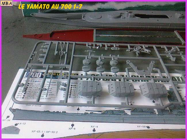 CONSTRUCTION DE LA MAQUETTE DU YAMATO AU 700 TAMIYA 170348Yamato7