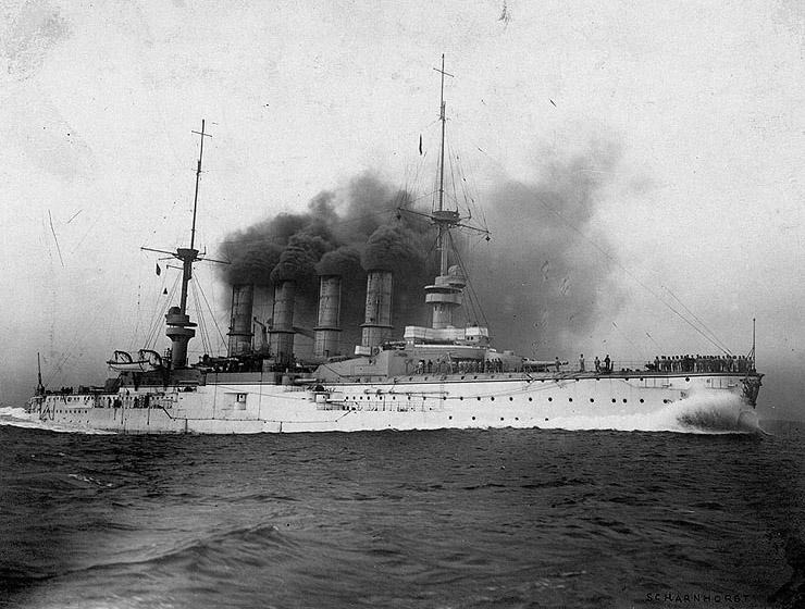 ALLEMAGNE CROISEURS DE BATAILLE CLASSE MOLTKE 192232SMS_Scharnhorst
