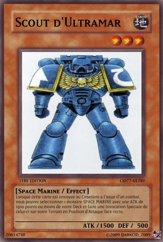 Crossover : Warhammer 40K  -vs- YGOh! 224254Ultra_Scout