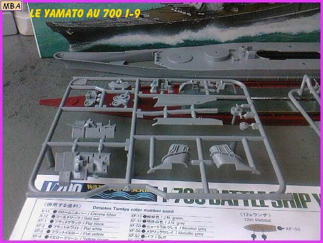 CONSTRUCTION DE LA MAQUETTE DU YAMATO AU 700 TAMIYA 246594Yamato9