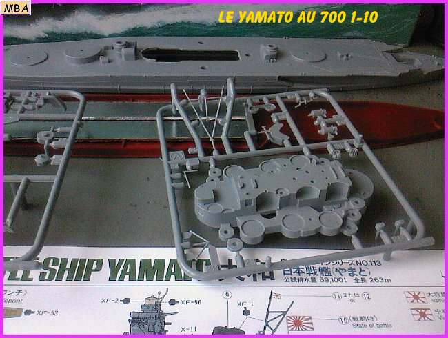 CONSTRUCTION DE LA MAQUETTE DU YAMATO AU 700 TAMIYA 30788Yamato10