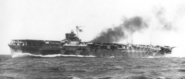 JAPON PORTE-AVIONS CLASSE UNRYU 312355Katsuragi_essais_en_mer_octobre_1944
