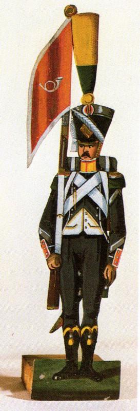 Chasseurs dans livre sur petit soldat en papier 327352InfLegereSergentVoltigeur1erEmpire