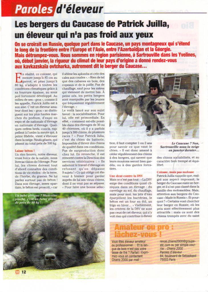 Paroles d'éleveur : Les bergers du caucase de Patrick Juilla, un éleveur qui n'a pas froid aux yeux 51518529_04_2009_14_54_57