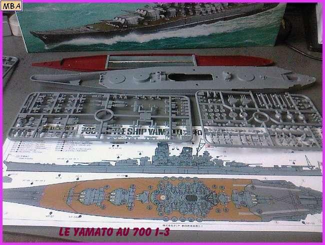 CONSTRUCTION DE LA MAQUETTE DU YAMATO AU 700 TAMIYA 582426Yamato3