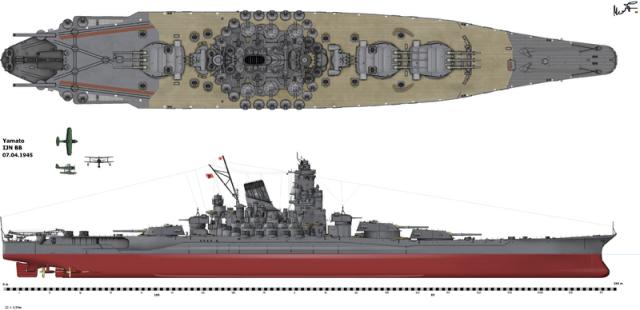 JAPON CUIRASSES CLASSE YAMATO 60646800px_Yamato1945