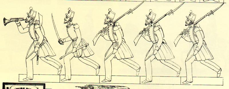 Chasseurs dans livre sur petit soldat en papier 608552DetailChasseurs1845