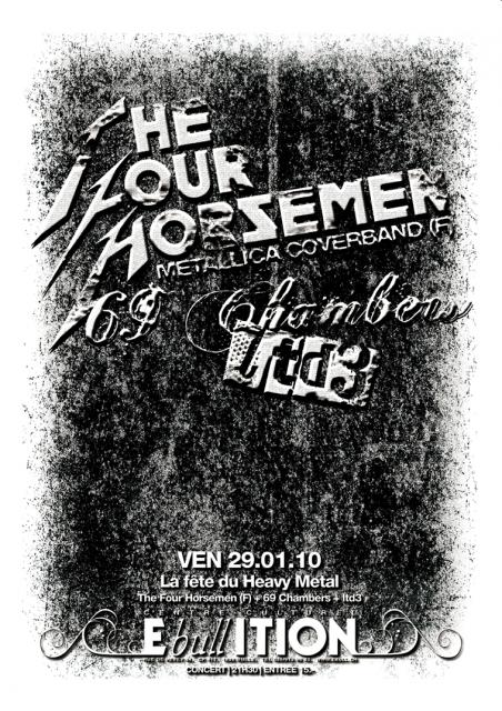 29.01 The Four Horsemen + 69 Chambers @ Bulle (CH) 649446flyer
