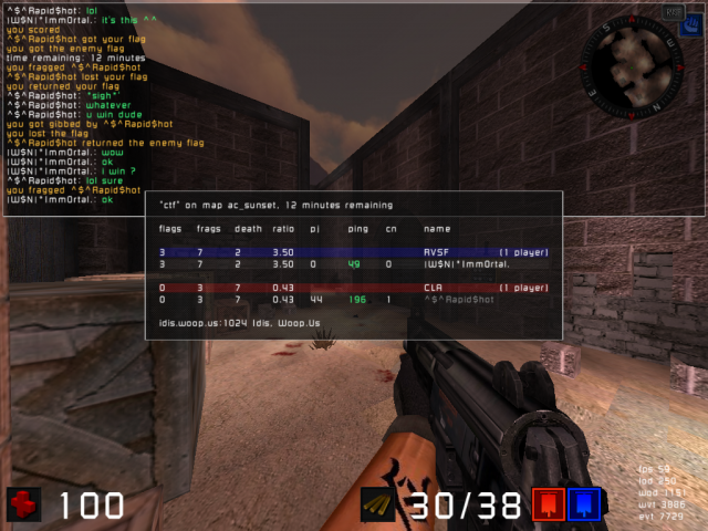 Match VS ^$^ ... 1vs1 68675620090416_08.32.17_ac_sunset_CTF